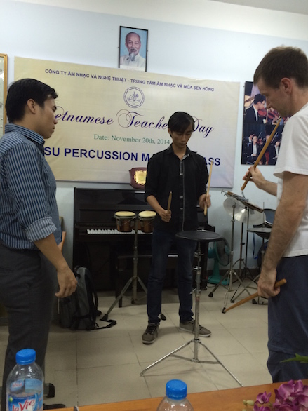 Evening masterclass at Sen Hong music center Ho Chi Minh City
