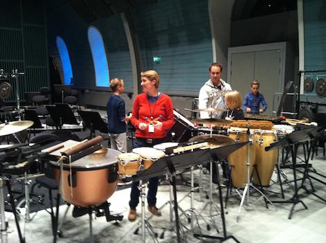 From rehearsals  with students and the central staff bands percussion players